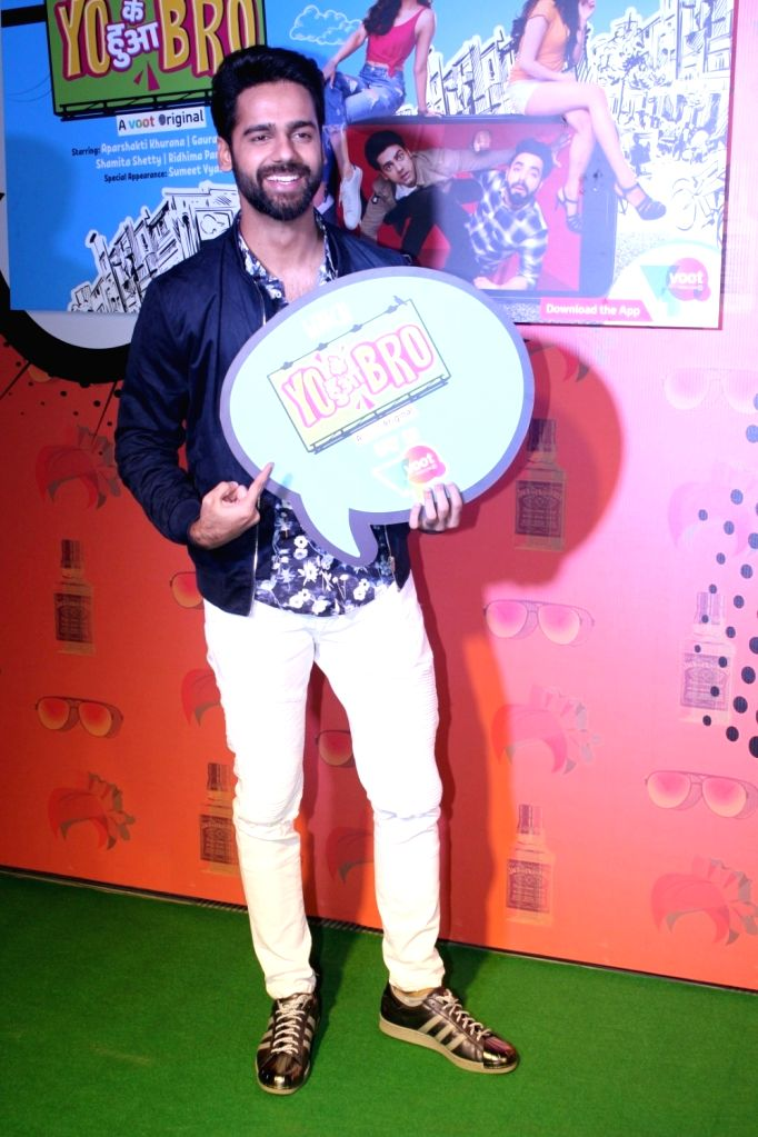 "Actor Gaurav Pandey during the special screening of  web-series ""Yo Ke Hua Bro"" in Mumbai on Aug 16, 2017. - Gaurav Pandey"