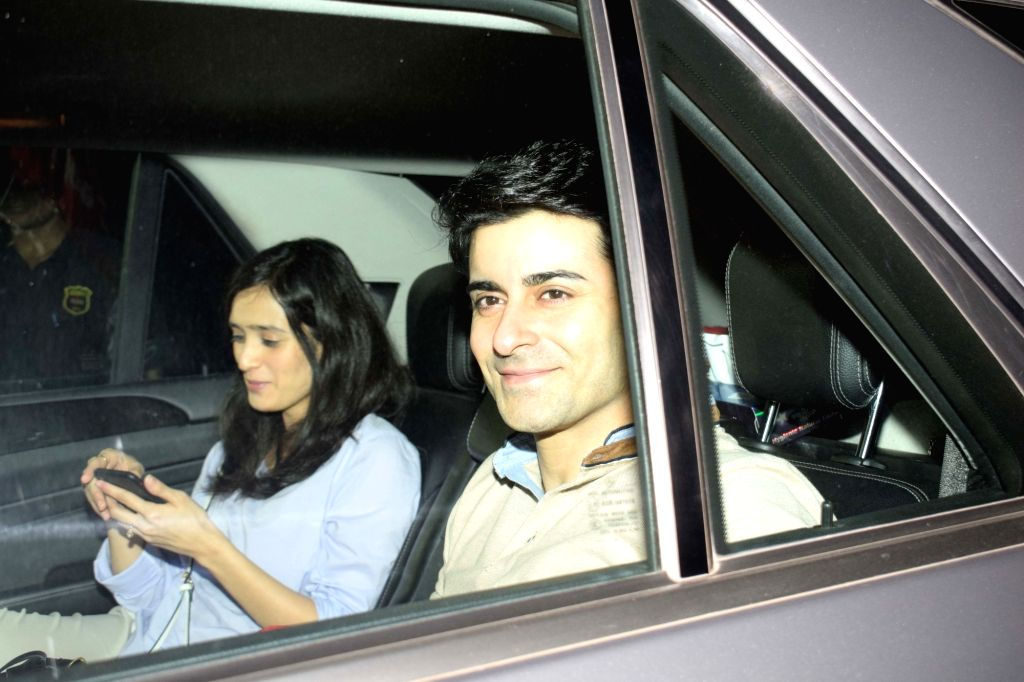 """Actor Gautam Rode along with his wife Pankhuri Awasthy at the special screening of film """"Love Sonia"""" on Sept 10, 2018. - Gautam Rode"""