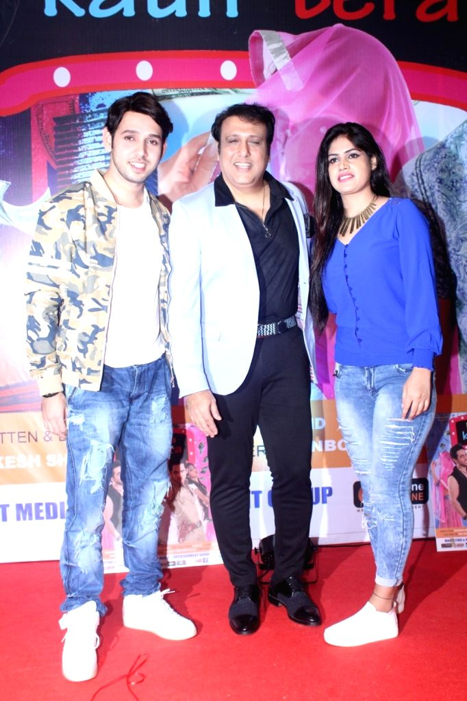 "Actor Govinda and Star cast during the first Look & Music launch of film ""Kaun Mera Kaun Tera"" in Mumbai on Sept 14, 2017. - Govinda"