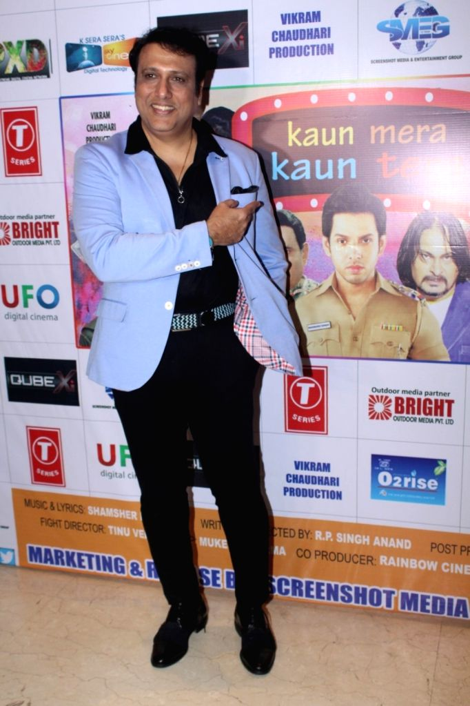 "Actor Govinda during the first Look & Music launch of film ""Kaun Mera Kaun Tera"" in Mumbai on Sept 14, 2017. - Govinda"
