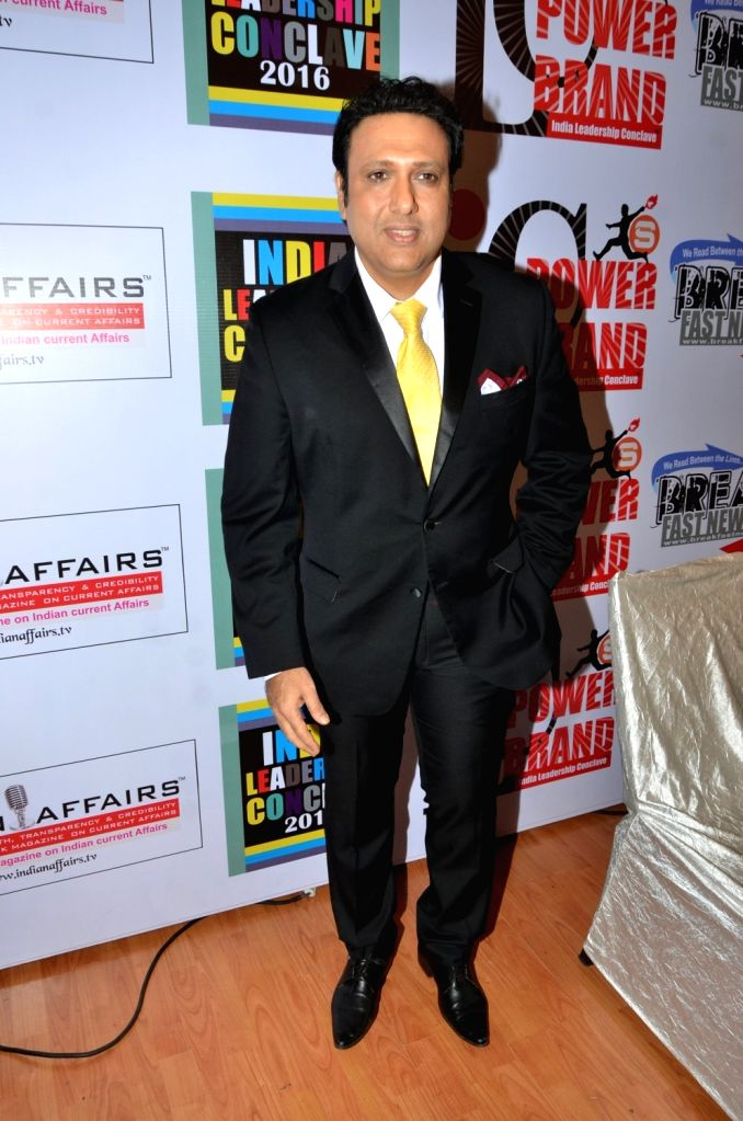 Actor Govinda during the India Leadership Conclave 2016 in Mumbai, on July 1, 2016. - Govinda