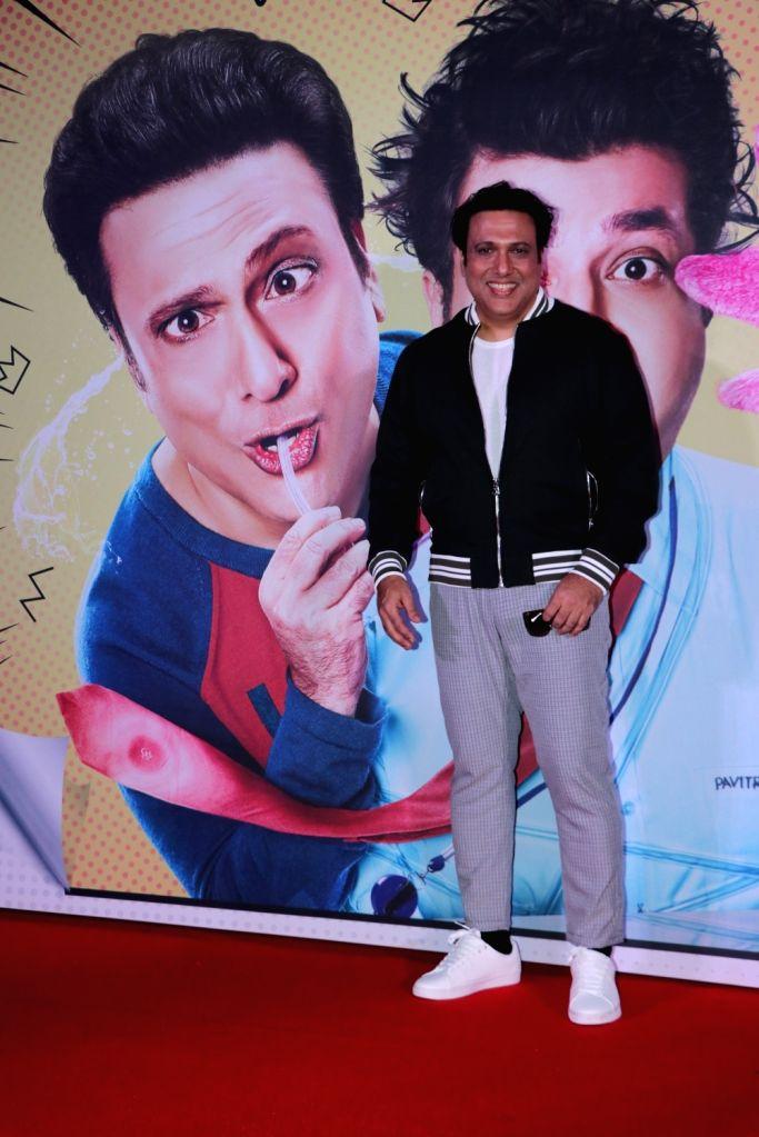 "Actor Govinda during the trailer launch of his upcoming film ""FryDay"" in Mumbai on Sept 8, 2018. - Govinda"