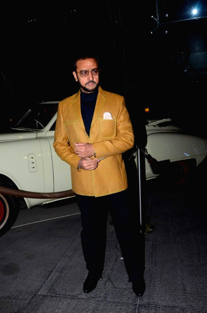 Actor Gulshan Grover during the birthday celebrations of actor Kabir Bedi in Mumbai, on Jan 16, 2016. - Gulshan Grover