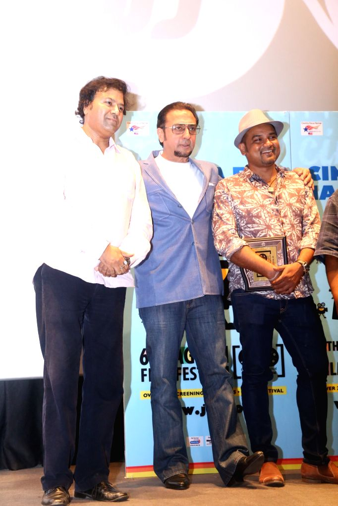 Actor Gulshan Grover during the screening of film ``Kaun Kitne Paani Mein`` at the Jagran Film Festival in New Delhi on July 5, 2015. - Gulshan Grover