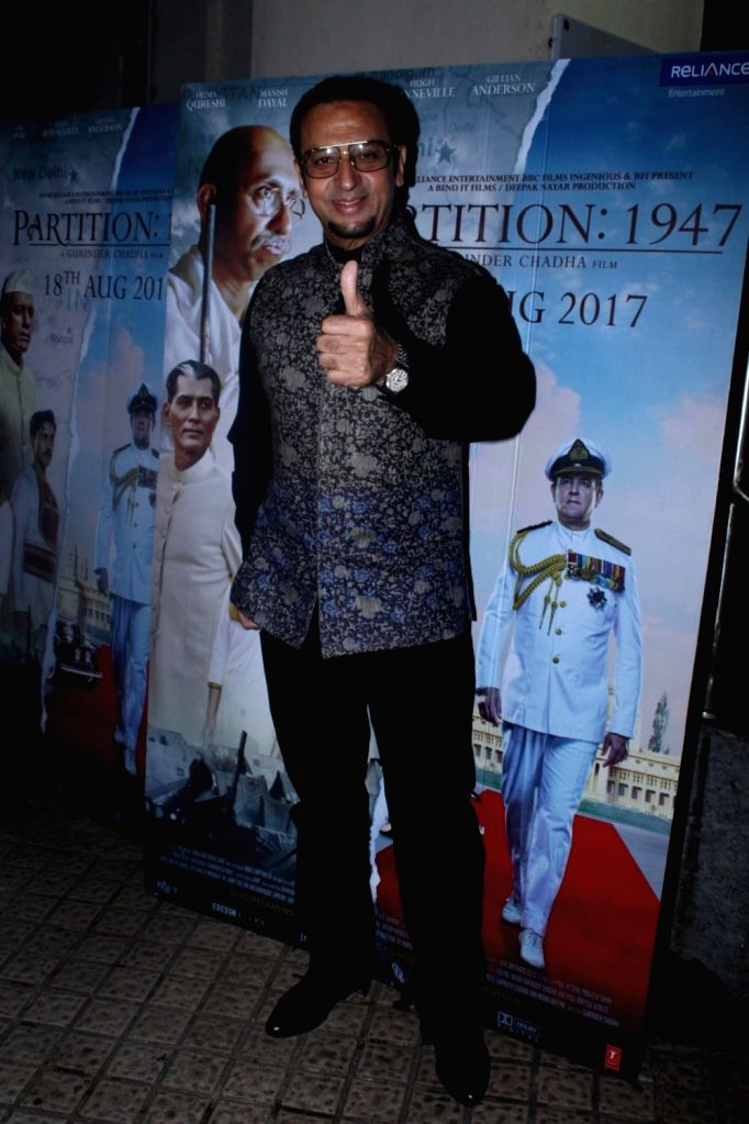"""Actor Gulshan Grover during the special screening of film """"Partition: 1947"""" in Mumbai on Aug 17, 2017. - Gulshan Grover"""