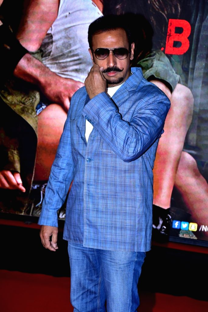 "Actor Gulshan Grover during the special screening of film ""Baaghi 2"" on March 29, 2018. - Gulshan Grover"