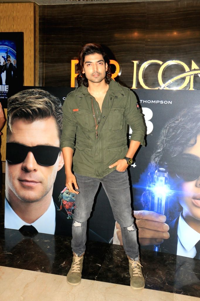 "Actor Gurmeet Choudhary at the screening of upcoming film ""Men in Black: International"", in Mumbai, on June 13, 2019. (Photo: IANS - Gurmeet Choudhary"