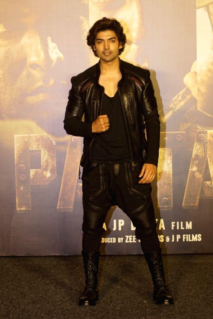 "Actor Gurmeet Choudhary at the trailer launch of upcoming film ""Paltan"", in Mumbai on Aug 2, 2018. - Gurmeet Choudhary"