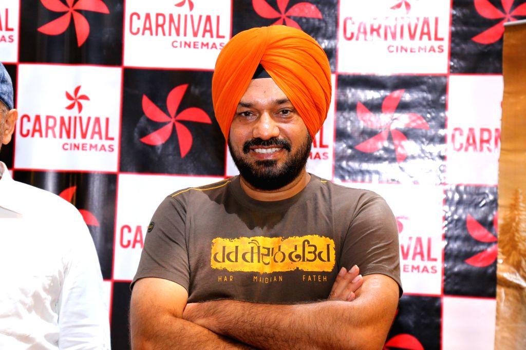 "Actor Gurpreet Ghuggi during the promotion of his upcoming Punjabi film ""Ardaas Karaan"" in New Delhi, on July 17, 2019. - Gurpreet Ghuggi"