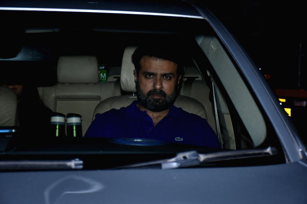 """Actor Harman Baweja at the screening of upcoming film """"Panipat"""" in Mumbai on Dec 4, 2019. - Harman Baweja"""