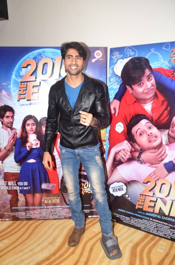 Actor Harshad Chopra during the trailer launch of film 2016 The End in Mumbai on Oct 6, 2016. - Harshad Chopra