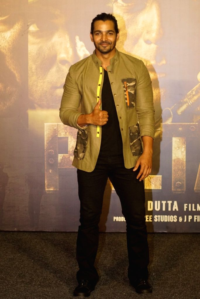 "Actor Harshvardhan Rane at the trailer launch of upcoming film ""Paltan"", in Mumbai on Aug 2, 2018. - Harshvardhan Rane"