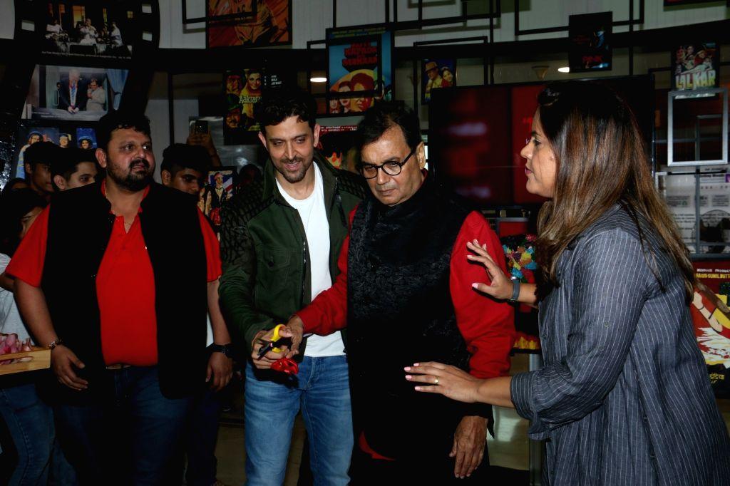 Actor Hrithik Roshan and filmmaker Subhash Ghai during Cinema Festival 2019 organised by Whistling Woods International in Mumbai on Sep 20, 2019. - Hrithik Roshan
