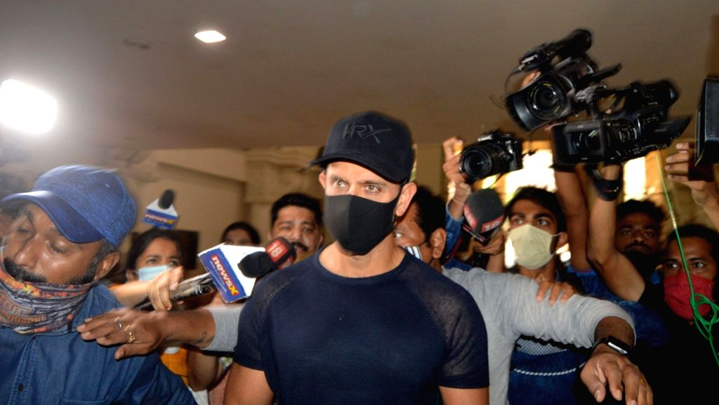 Actor Hrithik Roshan arrived at the office of Mumbai police commissioner's office after being summoned by Mumbai Police Crime Branch unit to record his statement in connection with a 2016 ... - Hrithik Roshan