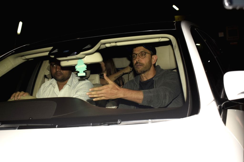 Actor Hrithik Roshan arrives at Mumbai's PVR Juhu on Dec 2, 2018. - Hrithik Roshan