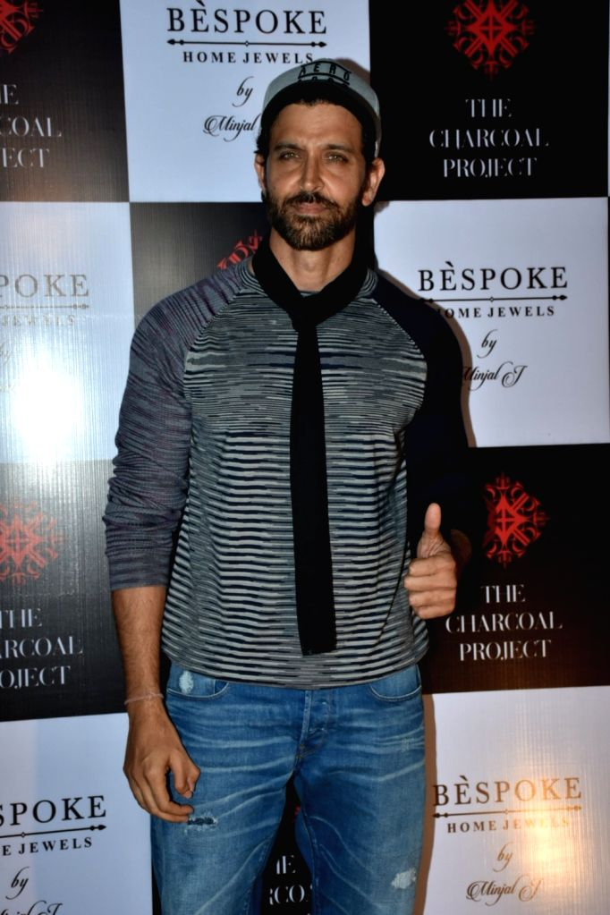 Actor Hrithik Roshan at a store launch in Mumbai on April 13, 2018 . - Hrithik Roshan
