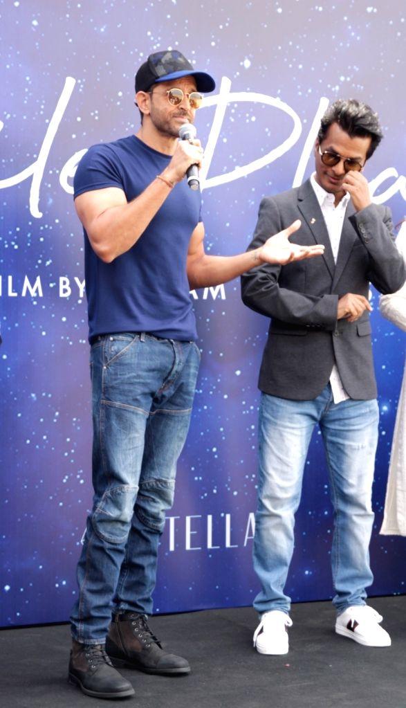 "Actor Hrithik Roshan at muhurat of fashion designer-director Vikram Phadnis's Marathi film ""Smile Please"" in Mumbai on March 1, 2019. - Hrithik Roshan"
