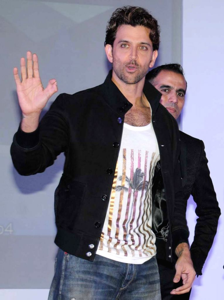 Actor Hrithik Roshan at the launch of an  e-commerce website in Bengaluru, on Oct 21, 2015.