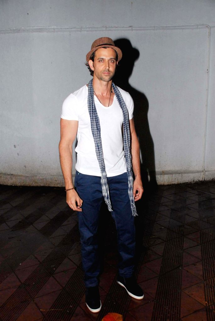 Actor Hrithik Roshan during the birthday celebration of actor Priyanaka Chopra in Mumbai on July 25, 2014. - Hrithik Roshan and Priyanaka Chopra