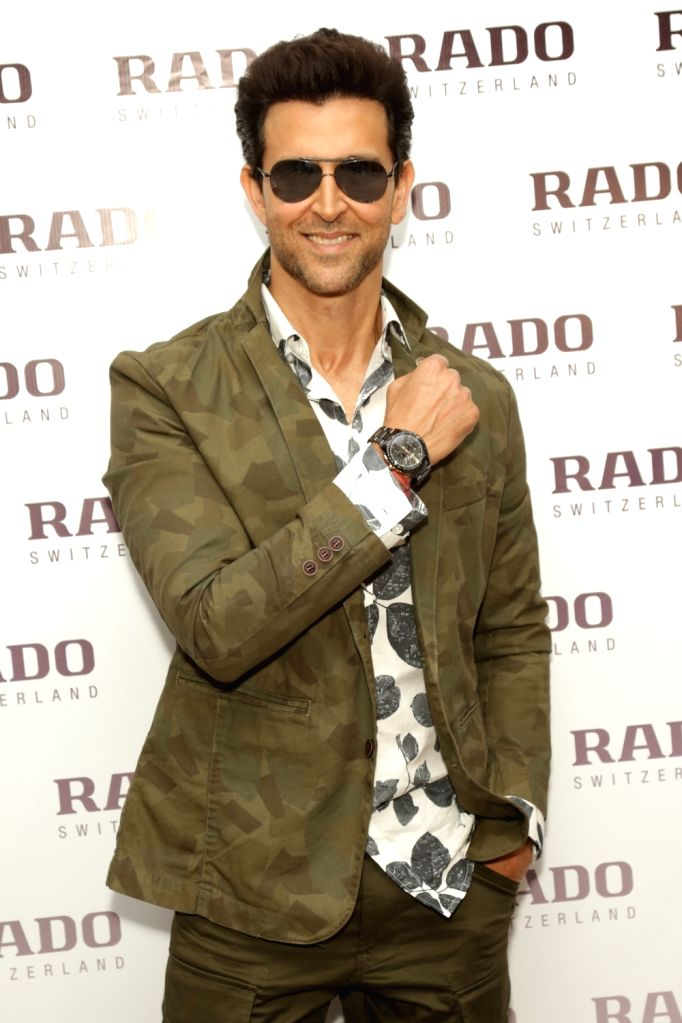 Actor Hrithik Roshan during the launch of a watch store in New Delhi on Feb 14, 2018. - Hrithik Roshan