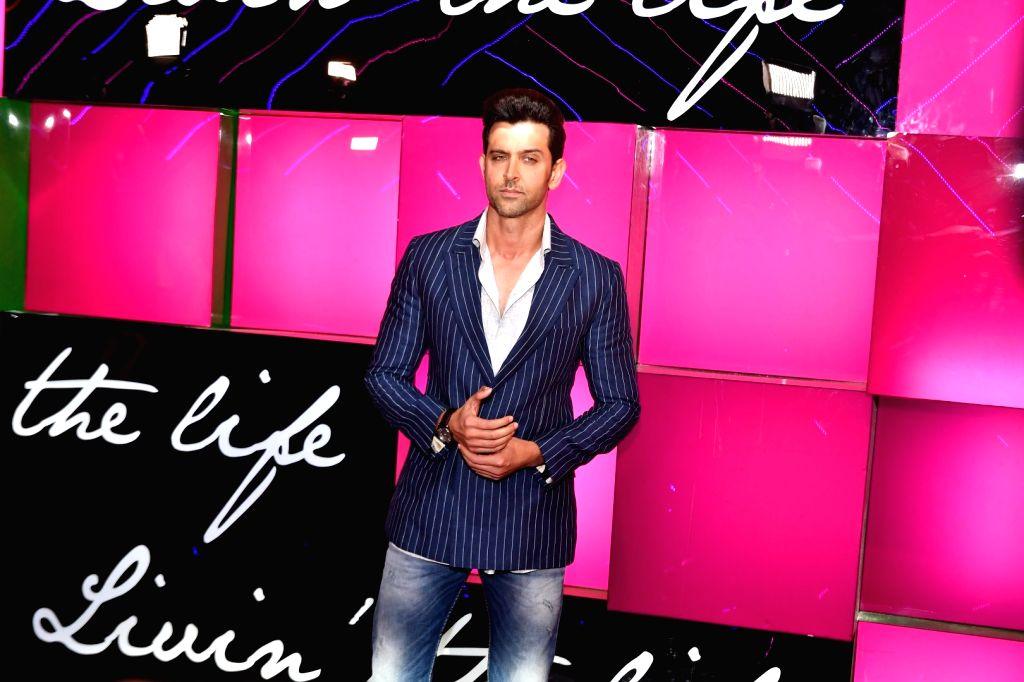 Actor Hrithik Roshan during the launch of Ananya Birla`s debut single Livin the Life, in Mumbai, on Nov 12, 2016. - Hrithik Roshan