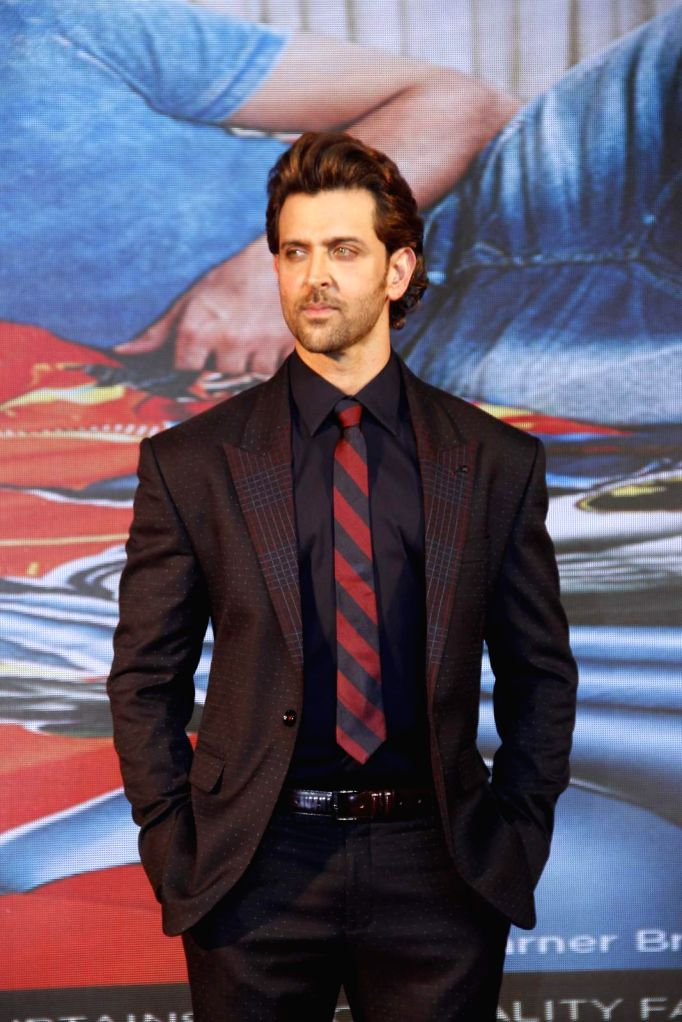 Actor Hrithik Roshan during the launch of Dctex new furnish collection 'dream runner' in Mumbai on Oct 21, 2015.
