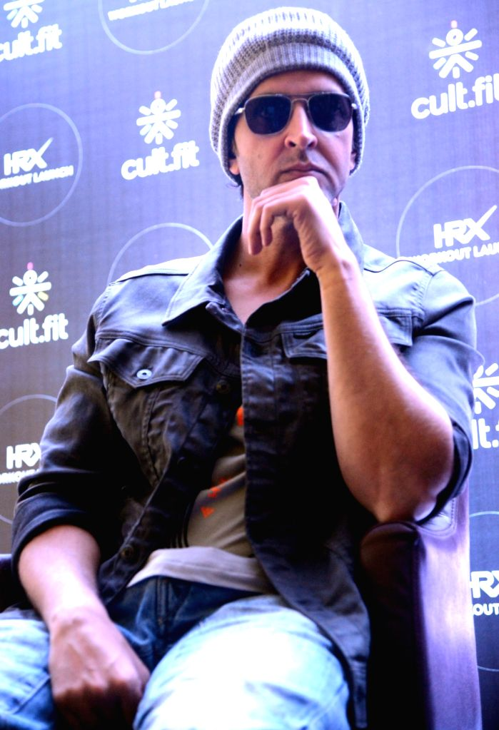 Actor Hrithik Roshan during the launch of new HRX workout, in Bengaluru on March 11, 2017. - Hrithik Roshan