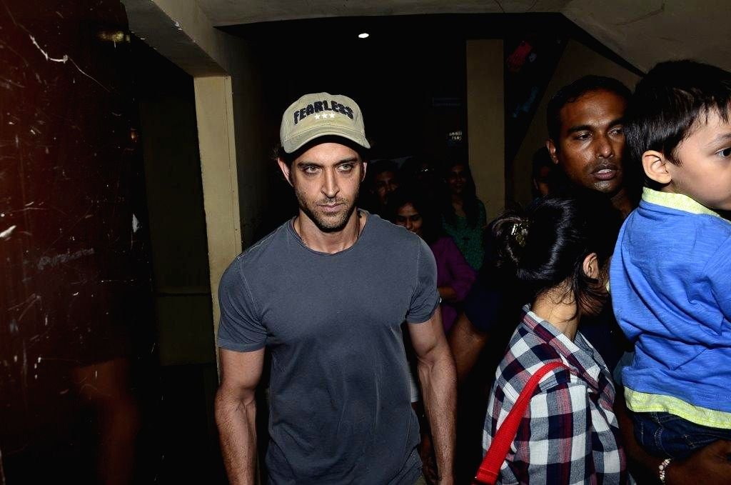 Actor Hrithik Roshan during the special screening of film Finding Fanny in Mumbai on Sept 7, 2014. - Hrithik Roshan