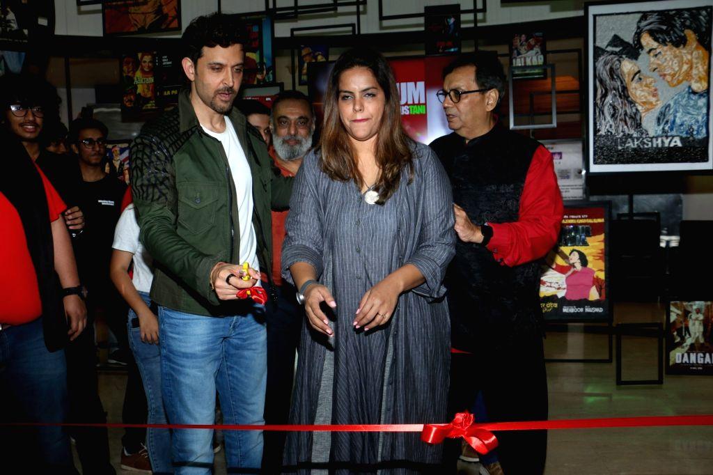 Actor Hrithik Roshan, filmmaker Subhash Ghai and his daughter Meghna Ghai Puri during Cinema Festival 2019 organised by Whistling Woods International in Mumbai on Sep 20, 2019. - Hrithik Roshan