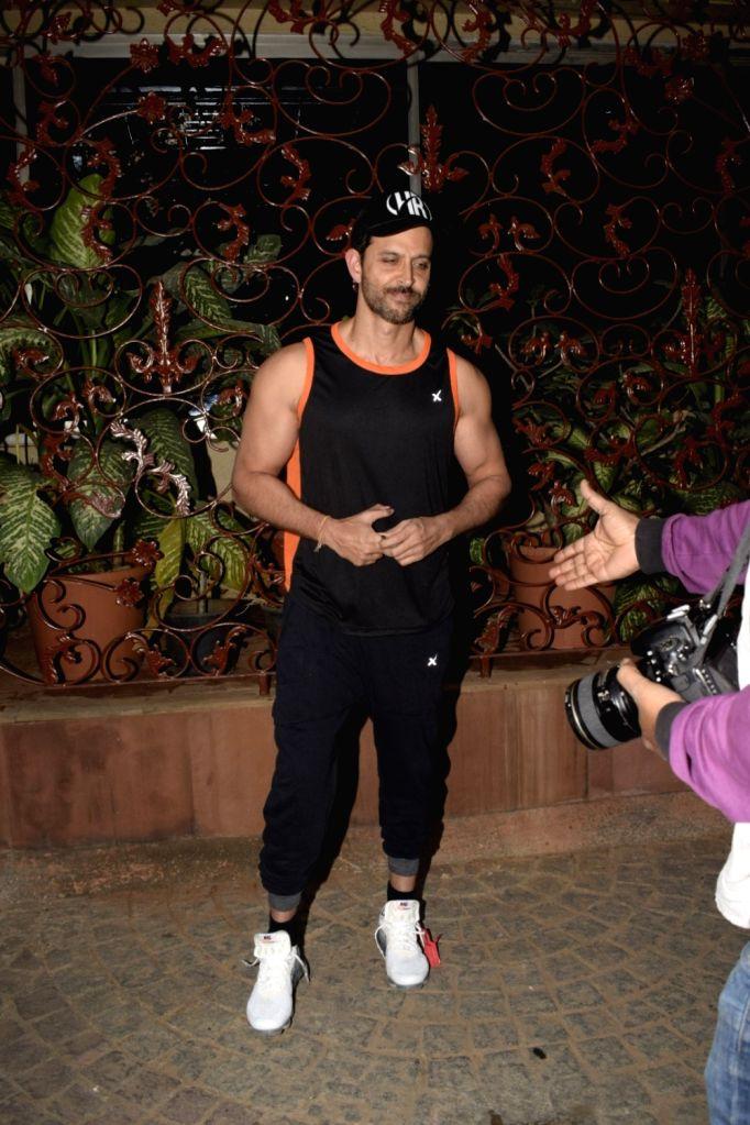 Actor Hrithik Roshan meets fans on his birthday in Mumbai on Jan 10, 2019. - Hrithik Roshan