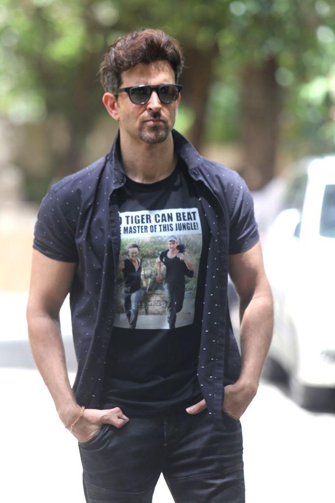 Actor Hrithik Roshan seen at Juhu in Mumbai on Sep 21, 2019. - Hrithik Roshan