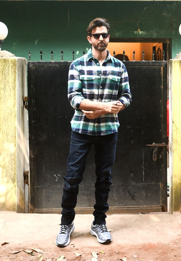 Actor Hrithik Roshan seen at Versova, in Mumbai on Dec 11, 2019. - Hrithik Roshan