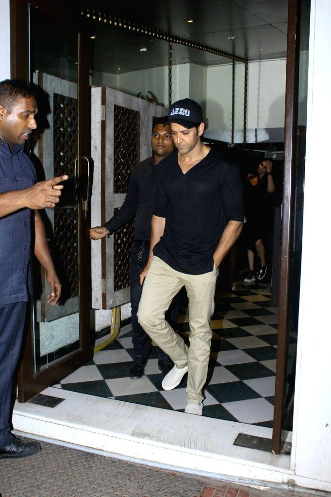 Actor Hrithik Roshan spotted at Bandra in Mumbai on May 13, 2017. - Hrithik Roshan