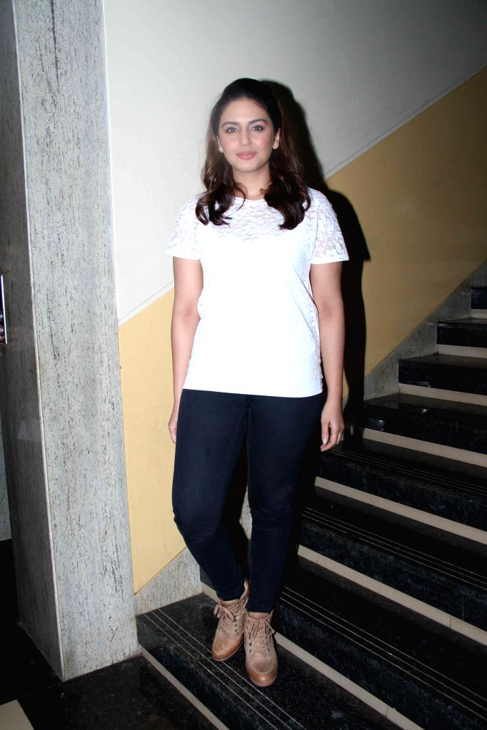 Actor Huma Qureshi during Jamnabai Narsee School`s inter school festival, in Mumbai, on Aug. 24, 2014.