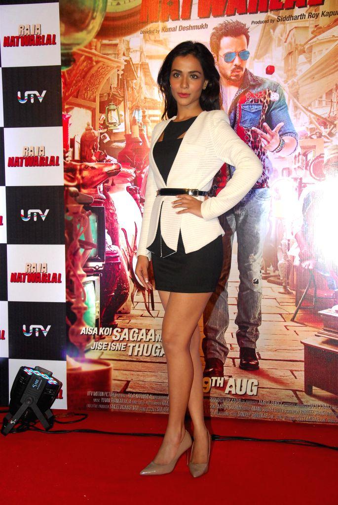 Actor Humaima Malick during the trailer launch of film Raja Natwarlal in Mumbai on July 18, 2014. - Humaima Malick