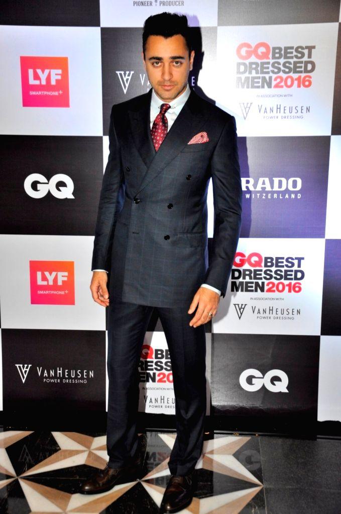 Actor Imran Khan during GQ Best Dressed Men 2016 Awards, in Mumbai, on June 2, 2016. - Imran Khan