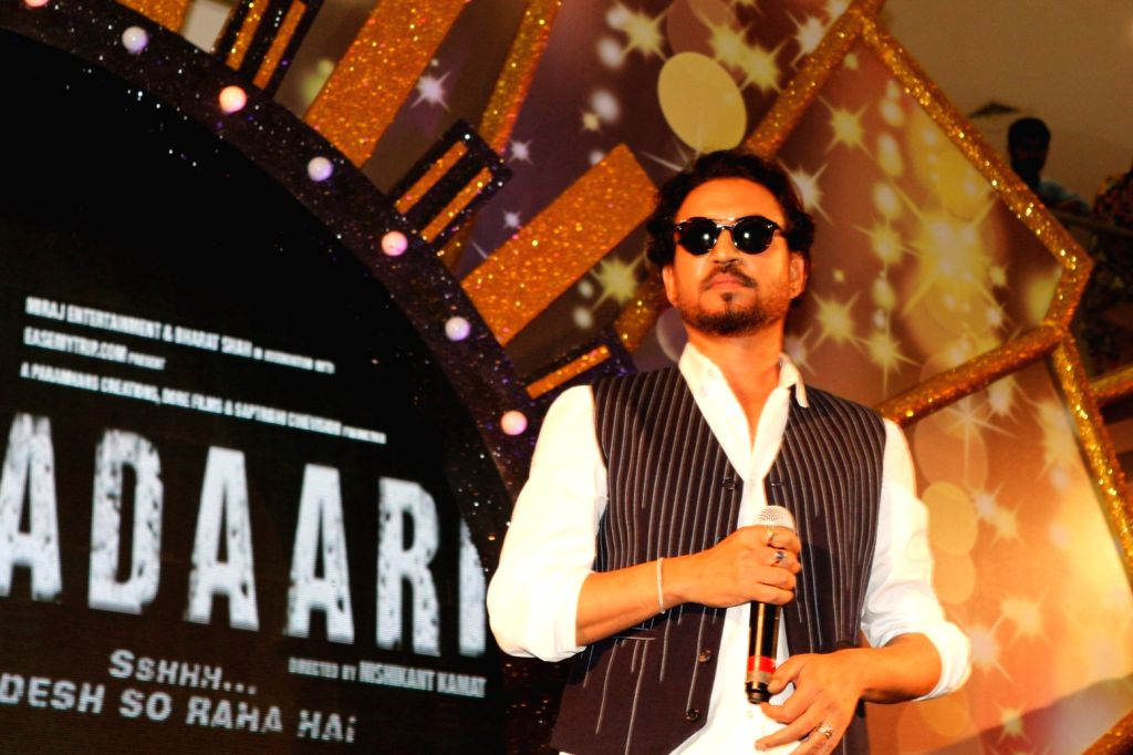 Actor  Irrfan Khan at Viviana Mall on the ocassion of mall's 3rd anniversary and promotion of his movie Madaari in Mumbai on June 27, 2016. - Irrfan Khan