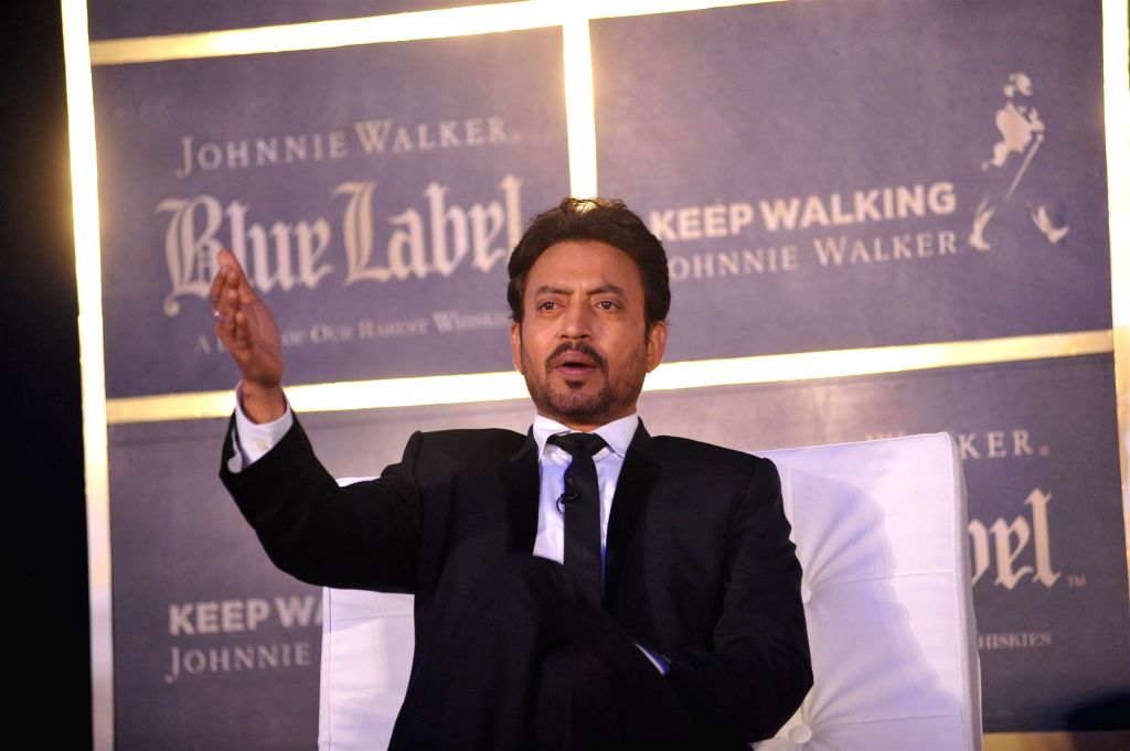 Actor Irrfan Khan, author Chetan Bhagat and Anil Kapoor during a panel discussion on Hollywood film The Gentleman`s Wager in Mumbai on Thursday, August 7, 2014. - Irrfan Khan and Kapoor