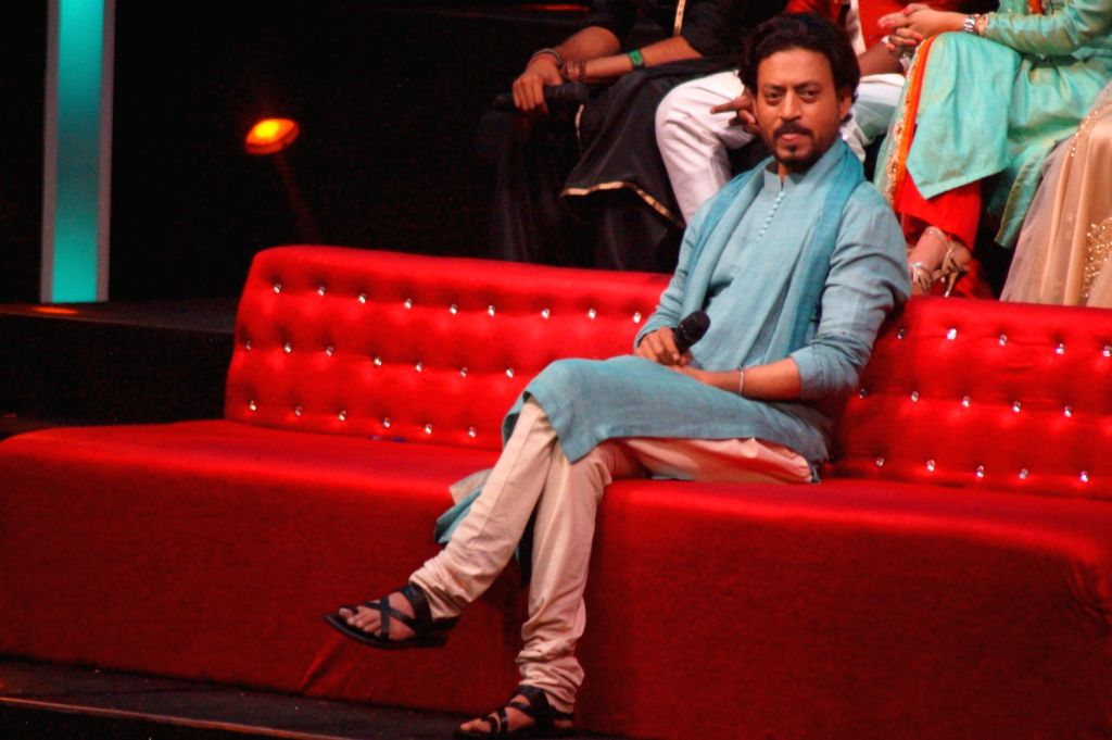Actor Irrfan Khan during the promotion of film Madaari on the sets of Sa Re Ga Ma, in Mumbai, on July 5, 2016. - Irrfan Khan