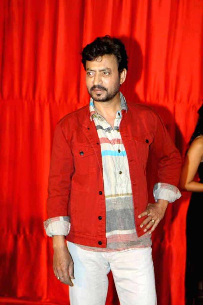 Actor Irrfan Khan during the trailer launch of film Ekkees Toppon Ki Salaami in Mumbai on Aug 11, 2014. - Irrfan Khan