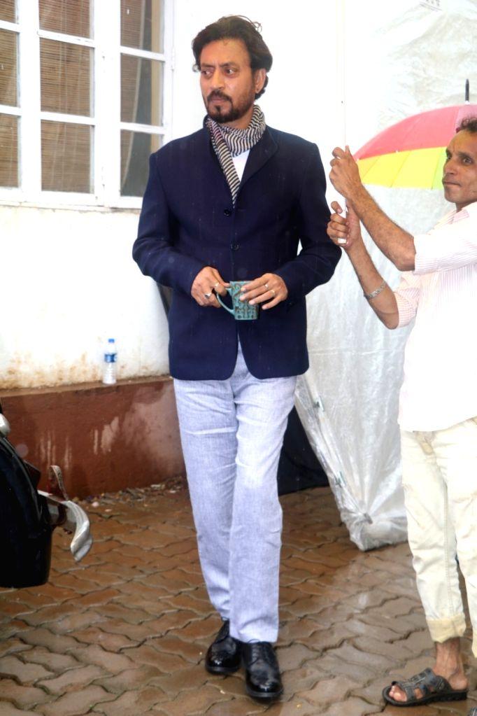 Actor Irrfan Khan on the sets of SAB TV show Chidiya Ghar, in Mumbai on June 24, 2016. - Irrfan Khan
