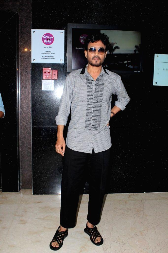Actor Irrfan Khan spotted during Promotion of Film Hindi Medium in Mumbai on May 7, 2017. - Irrfan Khan