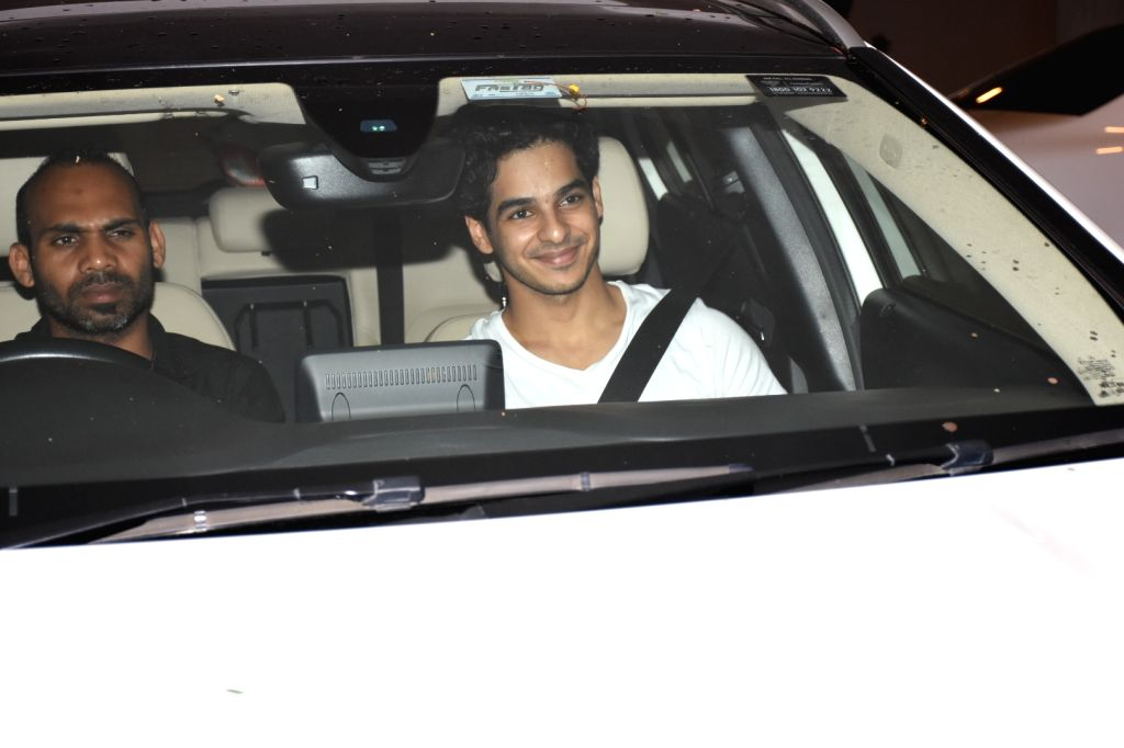 Actor Ishaan Khattar arrives at filmmaker Karan Johar's house party, in Mumbai on June 12, 2019. - Ishaan Khattar