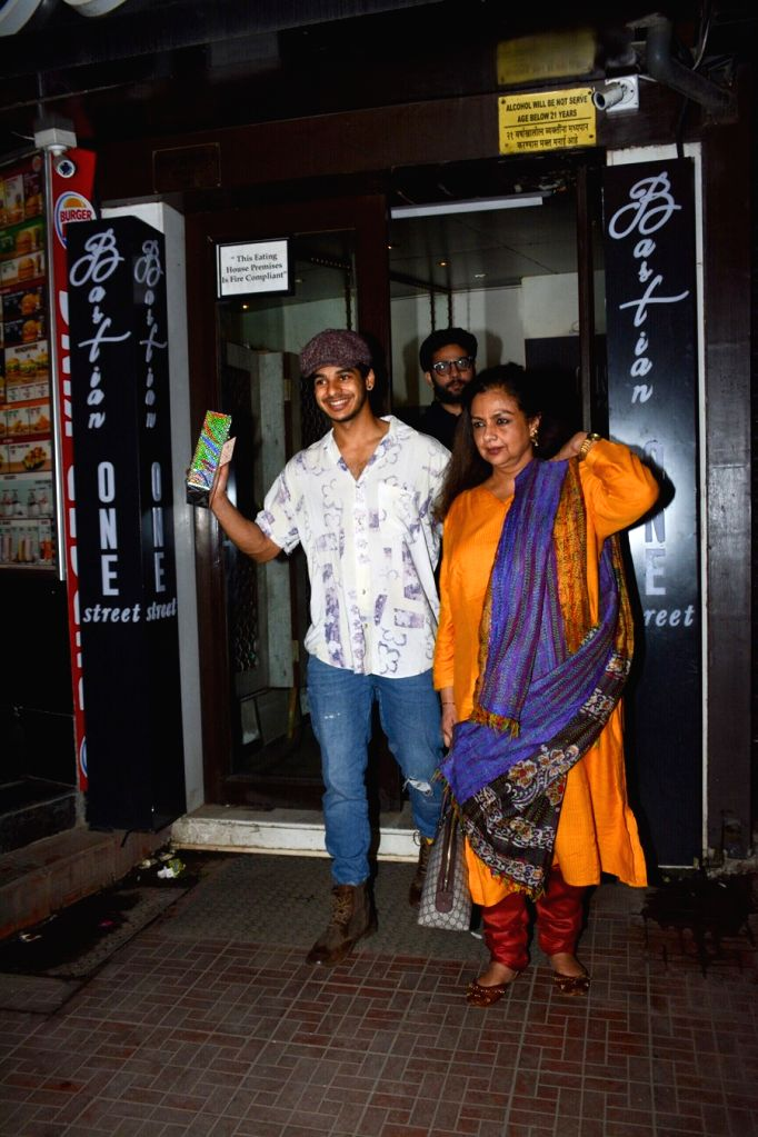 Actor Ishaan Khattar celebrates his birthday with mother Neelima Azeem in Mumbai on Oct 31, 2018. - Ishaan Khattar