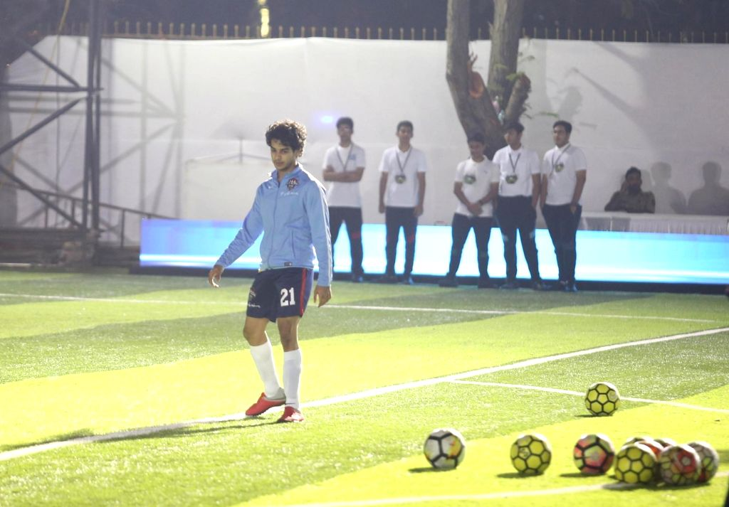 Actor Ishaan Khattar during Jamnabai Narsee Football match in Mumbai on Dec 11, 2018. - Ishaan Khattar