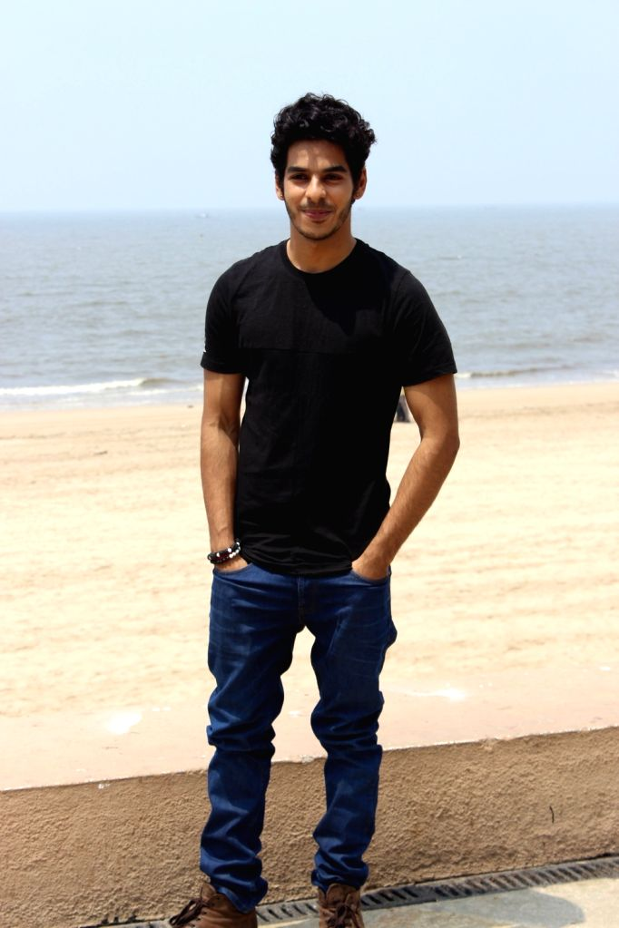 """Actor Ishaan Khattar during the promotion of his upcoming film """"Beyond The Clouds"""", in Mumbai on March 28, 2018. - Ishaan Khattar"""