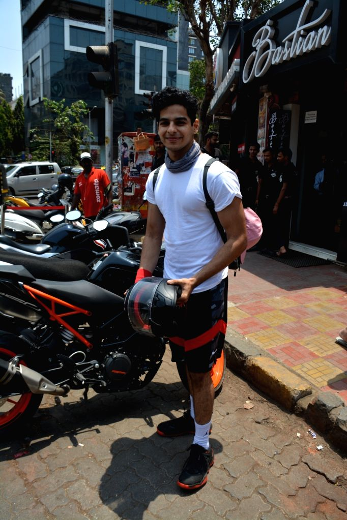 Actor Ishaan Khattar seen in Mumbai's Bandra, on April 14, 2019. - Ishaan Khattar