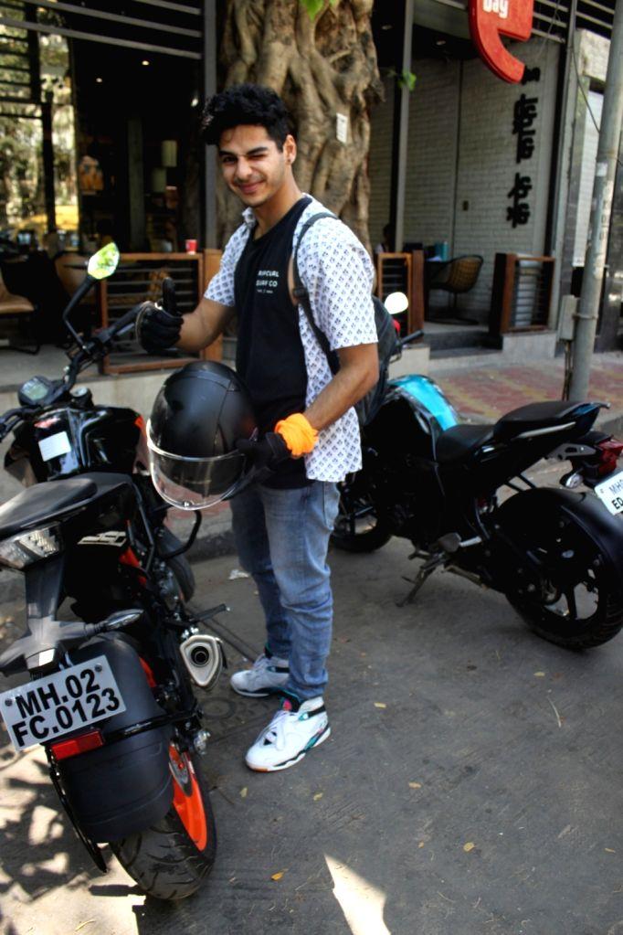 Actor Ishaan Khattar seen in Mumbai's Juhu, on April 9, 2019. - Ishaan Khattar