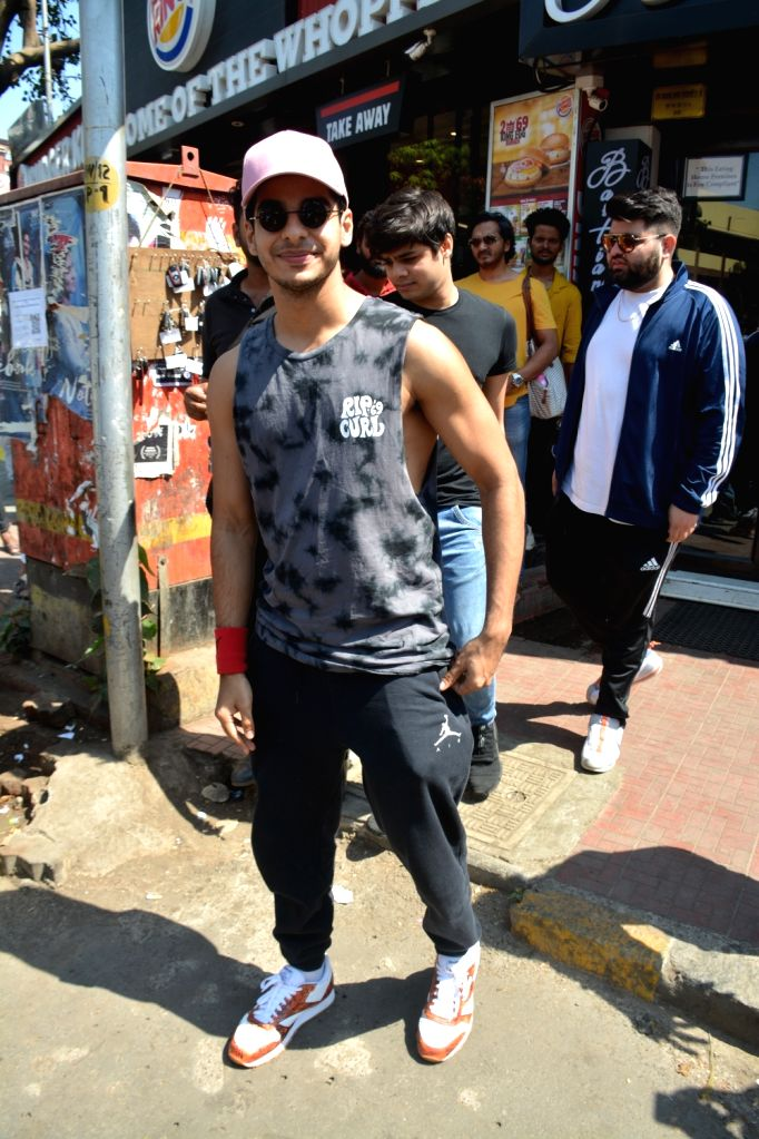 Actor Ishaan Khattar seen in Mumbai's Juhu, on April 22, 2019. - Ishaan Khattar