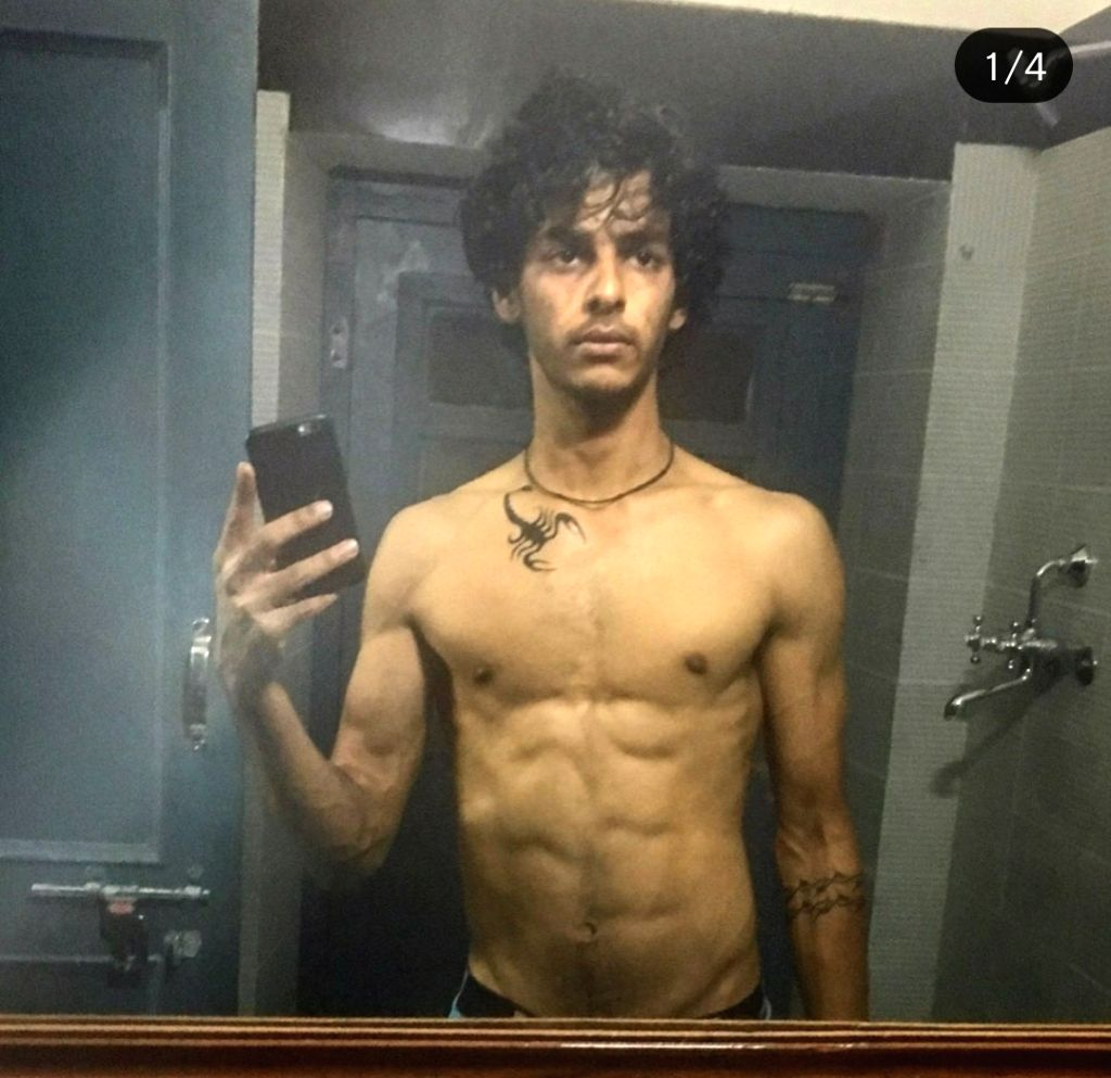 "Actor Ishaan Khatter is working really hard on his physique and his recent Instagram pictures are a proof of that. Ishaan on Saturday posted pictures of his transformation from his first film ""Beyond The Clouds"" to his upcoming film ""Khaali Peeli"". - Ishaan Khatter"
